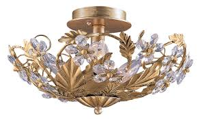 Crystorama Crystorama Lighting 5305 Gl Abbie Gold Leaf Semi Flush Mount