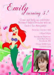 diy printable ariel mermaid party photo invitations