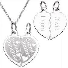 grandmother and granddaughter necklaces sterling grandmother granddaughter engraved able pendant