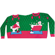 two person sweater deck the bathroom funqigifts