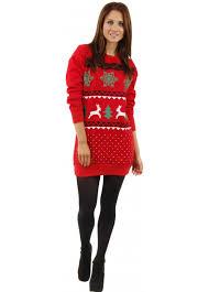 christmas jumper dress red festive jumper dress novelty jumpers