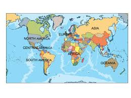 World Map Continents And Countries by World Ppt Powerpoint Maps Open Office Presentations Cartes