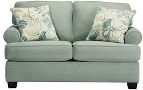 signature design by ashley daystar seafoam contemporary loveseat