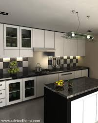 white modular kitchen design