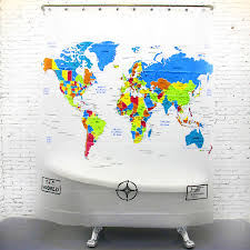 Map Shower Curtain Bathroom Funny Shower Curtain Funny Holiday Shower Curtain U201a Buy