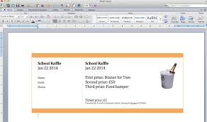 Create A Free Resume Online And Print by Create Numbered Raffle Tickets In Word For Mac 2011