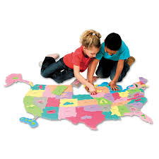 Usa Puzzle Map by Wonderfoam Giant U S A Puzzle Map By Creativity Street Ckc4377