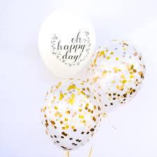 gold balloons confetti balloons