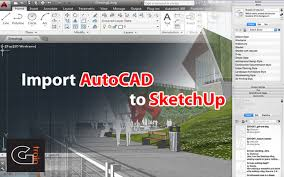tutorial sketchup autocad import autocad to sketchup youtube