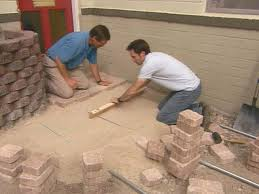 laying pavers over concrete patio how to install concrete pavers how tos diy
