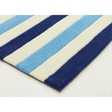 Bright Blue Rug Nautical Stripes Blue Rug Kids Floor Rugs Free Shipping Australia
