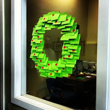 Xmas Office Decorations You Don U0027t Have A Wreath Use Post It Notes 17 Incredibly