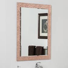 decor wonderland ssmc100 copper leaf modern bathroom mirror the mine