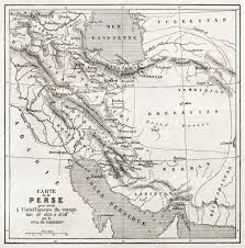 Persia Map Persia Old Map Created By Vuillemin Published On Le Tour Du