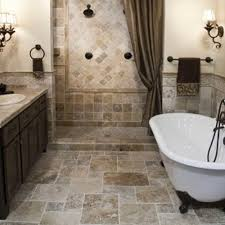 Black Bathroom Tiles Ideas Half Hexagonal Glass Shower Space Decorated Chandelier Tub Shower