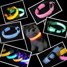 collar light for small dogs nylon pet led dog collar night safety led flashing glow led pet
