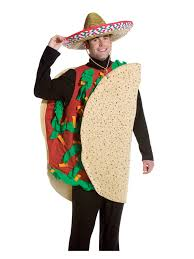 mens mexican taco funny food deluxe halloween fancy dress