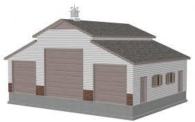 Garage With Loft Pole Barn Garage Designs Garage With Loft Plans Build Garage