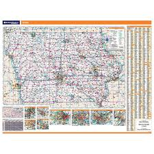 Iowa State Map Iowa Laminated State Wall Map