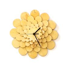 flower unique stylish wooden wall clock ardeola online store