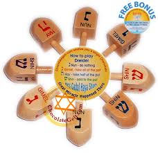 wooden dreidels with english letters deluxe