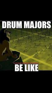 Drum Major Meme - how come these hyenas have better 8 to 5s and better body facing