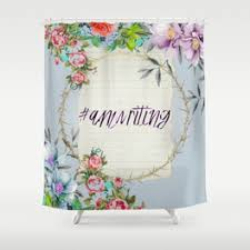 Shower Curtains With Writing Writing Shower Curtains Society6