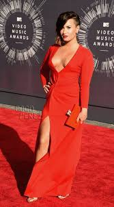 demi lovato dress fashion icon music music awards pop red