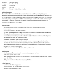 Cnc Machine Operator Job Description Press Operator Job Resume Cv Cover Letter