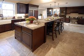 kitchen island with eating table