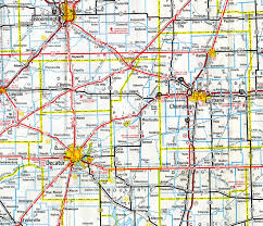 Illinois Map With Counties by Interstate Guide Interstate 72