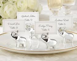 lucky elephant place card photo holder wedding favors by kate aspen