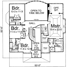 colonial style house plan 4 beds 4 00 baths 3093 sq ft plan 119 159