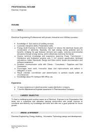 Electrical Project Engineer Resume Sample Amazing Electrical Project Engineer Resume Resume Format Web