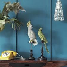 parrot home decor parott home decor decorative parott and cockatoo on perch