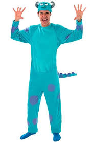 Sully Halloween Costume Adults Sulley Onesie Costume Monsters Movie Sulley Costume