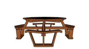 Octagonal Picnic Table Project by Picnic Table Myoutdoorplans Free Woodworking Plans And