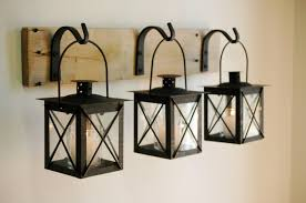 black lantern trio wall decor home decor rustic decor