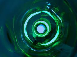 wallpaper biru hijau gambar penurunan cahaya spiral gelombang kaca garis hijau
