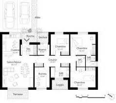 plan maison contemporaine plain pied 3 chambres plan maison de plain pied 3 chambres 7 plan 15100t maison