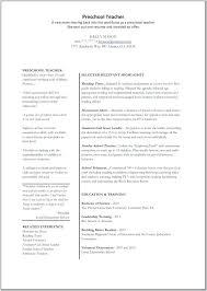 free resume objective exles for teachers resume exles for preschool teachers teacher preschool teacher