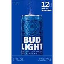 bud light 8 pack bud light 12 pack slim cans 8 fl oz mesa liquor