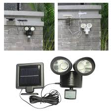 outdoor led motion lights 22 led twin head solar security light solar powered outdoor led