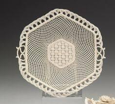 antique porcelain belleek porcelain basket m s
