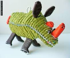 rhino ornament indigo arts