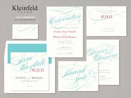 wedding invitation suites an invitation suite from kleinfeld bridal white paper with blue