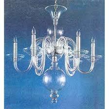 Teal Glass Chandelier Weiss And Biheller Six Light Clear Bohemian Art Glass Chandelier