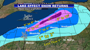 Erie Pennsylvania Map by Patchy Freezing Drizzle Tonight Inland Lake Effect Snow Frid
