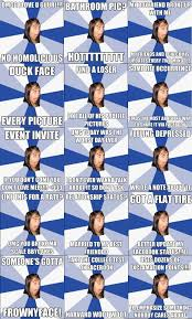 Facebook Girl Meme - annoying facebook girl meme comp part 1