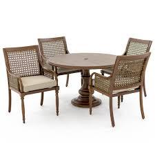 arabella 5 piece aluminum patio dining set w 48 inch round